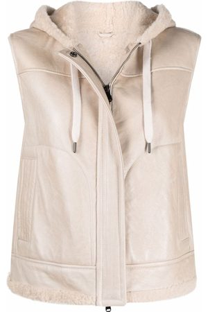 Brunello Cucinelli Hooded shearling gilet