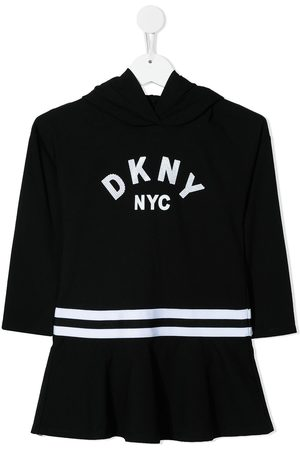DKNY Logo-print hoodie dress