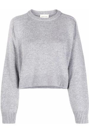 Loulou Studio Ribbed-trim cropped jumper
