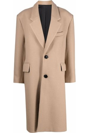 Ami Single-breasted wide-shoulder coat