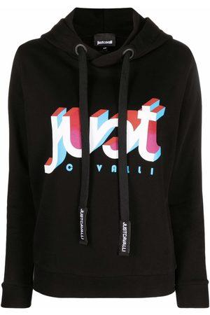 Roberto Cavalli Women Jumpers - Logo-print pullover hoodie