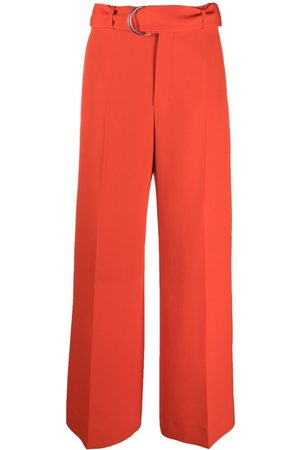 Ami Belted wide-leg trousers