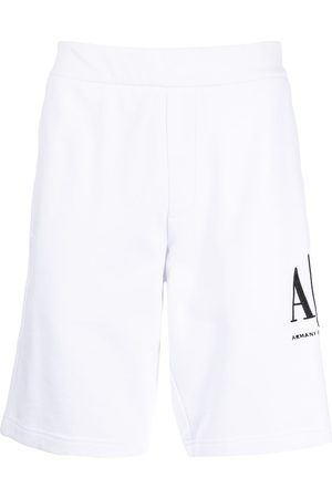 Armani Logo print track shorts