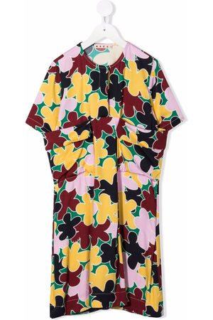 Marni Girls Casual Dresses - Floral-print draped dress