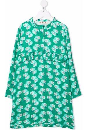 Marni Girls Casual Dresses - Floral-print dress
