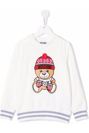 Moschino Intarsia bear-print jumper