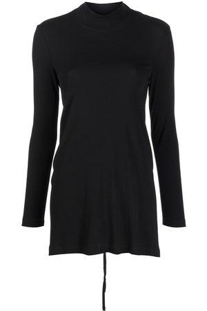 ROSETTA GETTY Women Turtlenecks - Tie-fastening turtleneck top