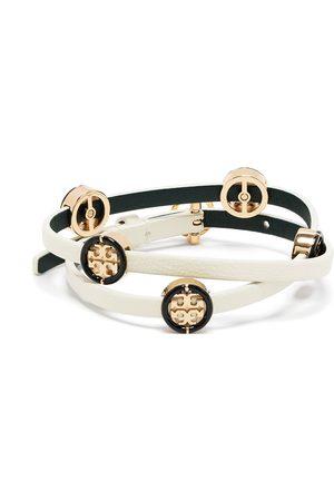 Tory Burch Women Bracelets - Miller two-tone double-wrap bracelet