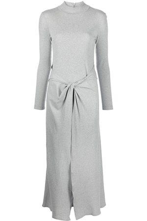 ROSETTA GETTY Twist-front turtleneck maxi dress