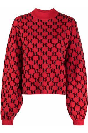 Karl Lagerfeld Monogram-print knitted jumper