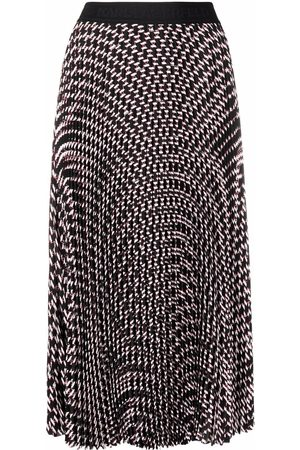 Karl Lagerfeld Monogram-print pleated skirt