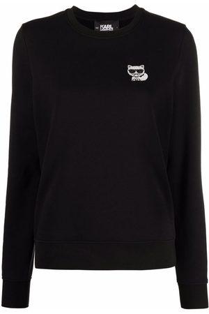 Karl Lagerfeld Ikonic Choupette studded sweatshirt
