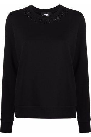 Karl Lagerfeld Embellished-logo neckline sweatshirt