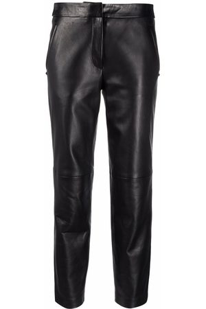 Karl Lagerfeld Cropped leather trousers