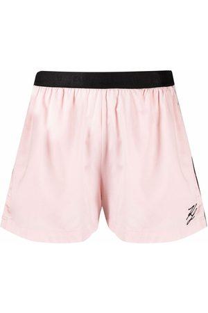 Karl Lagerfeld Logo-embroidered pajama shorts