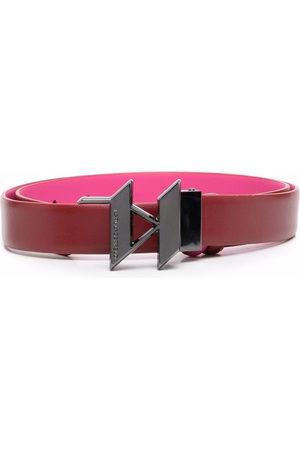 Karl Lagerfeld K/Monogram reversible logo-buckle belt