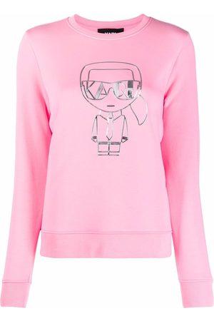 Karl Lagerfeld K/Ikonic logo-print sweatshirt