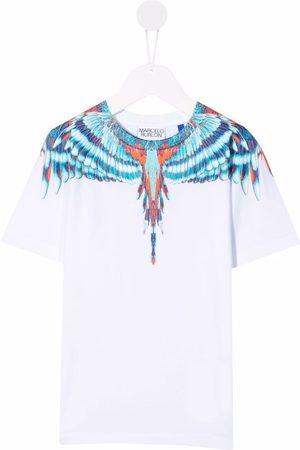 MARCELO BURLON Wings-print cotton T-shirt