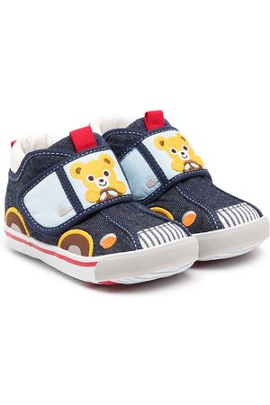 Miki House Car touch-strap trainers
