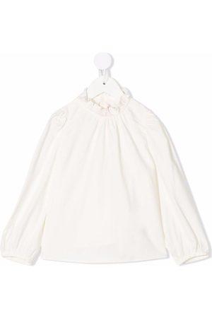 BONPOINT Ruffle-collar long-sleeved blouse