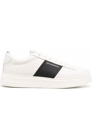 Emporio Armani Two-tone low-top sneakers