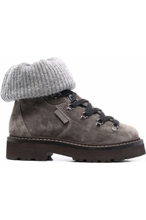 Brunello Cucinelli Sock-trim ankle boots