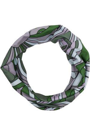 RAF SIMONS Graphic-print logo-patch scarf