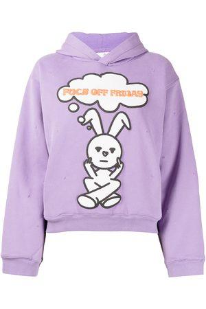 Natasha Zinko Friday distressed rabbit-print hoodie