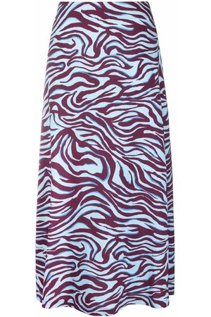 La DoubleJ Zebra-print high-waisted skirt