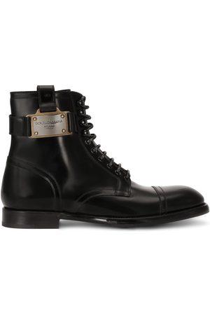 Dolce & Gabbana Logo-plaque ankle boots