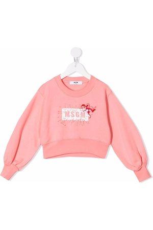 Msgm Cupid-motif logo sweatshirt