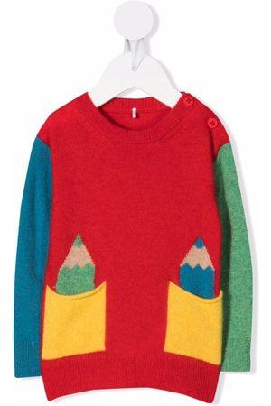 Stella McCartney Colour-block wool-blend jumper
