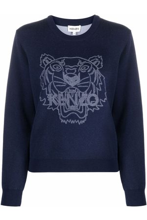 Kenzo Crew neck tigerknitted sweatshirt