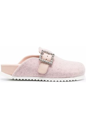LE SILLA Rita buckle-embellished slippers
