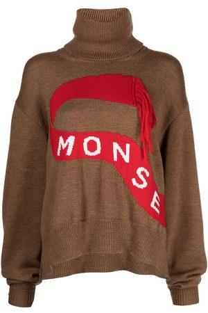 MONSE Roll neck intarsia-knit jumper
