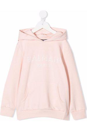 Balmain Logo-print cotton hoodie