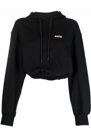 Msgm Chest logo-print hoodie