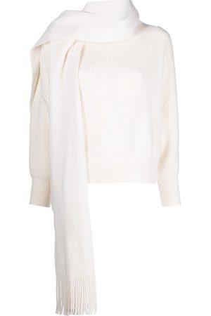 MONSE Scarf-collar cashmere jumper