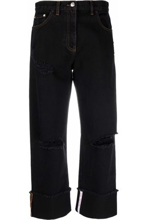 GCDS High-rise cropped jeans