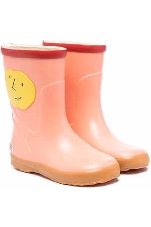 Bobo Choses Face-patch ankle wellies