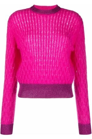 Pinko Two-tone cable-knit jumper