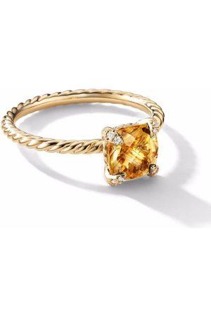 David Yurman 18kt yellow Chatelaine diamond ring