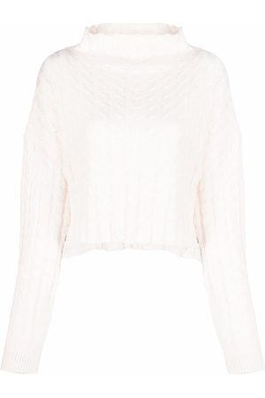 Pinko Cropped cable-knit jumper
