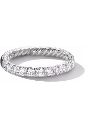 David Yurman Cable pavé diamond band ring