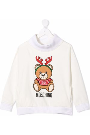 Moschino Teddy bear-motif cotton sweatshirt