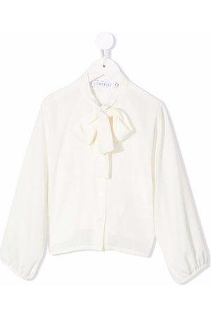 SEÑORITA LEMONIEZ Textured crepe pussybow blouse