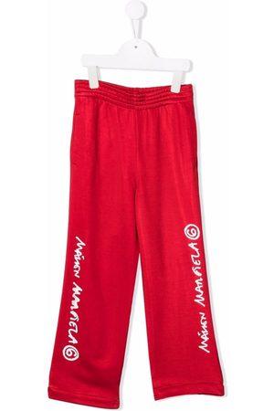 MM6 KIDS Girls Wide Leg Pants - Logo-print wide-leg trousers