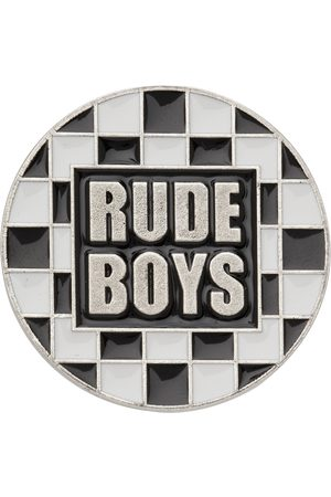 Saint Laurent Silver & 'Rude Boys' Pin