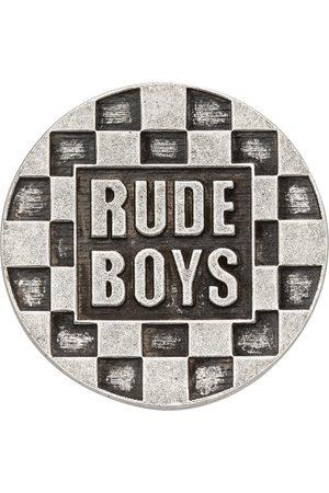 Saint Laurent Silver 'Rude Boys' Pin