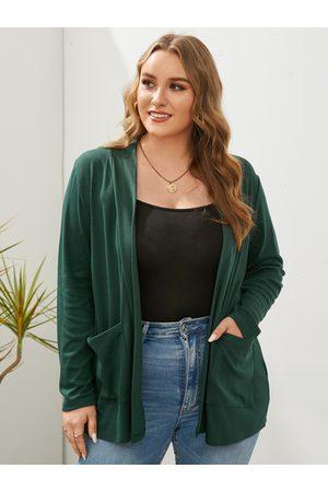 YOINS Plus Size Pocket Long Sleeves Cardigan